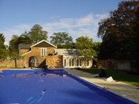 Extension to create Guest suite and swimming pool, Brooklands, Landford, Wiltshire